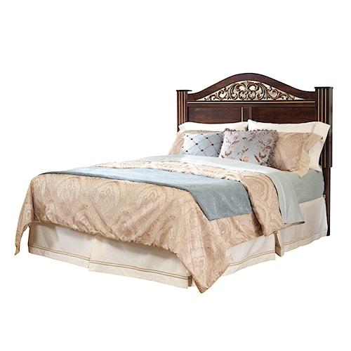 Standard Furniture Odessa King Headboard with Oxbowed Crown