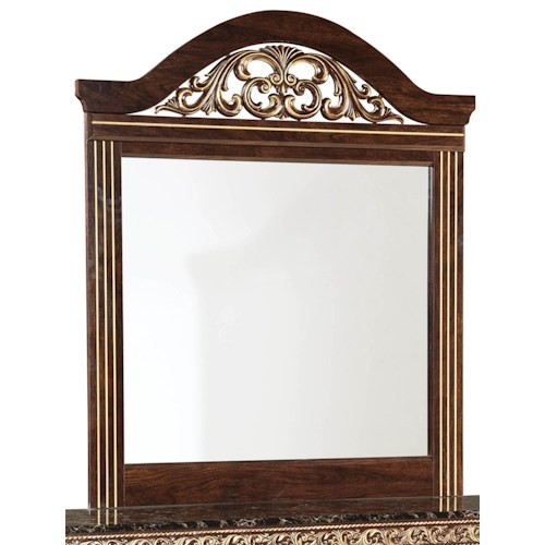 Standard Furniture Odessa Mirror with Gold or Silver Colored Insert