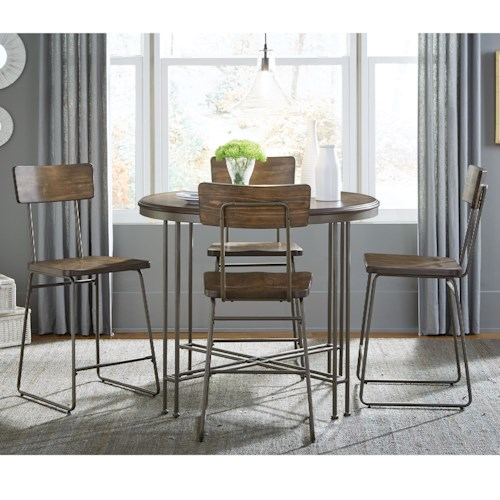 Standard Furniture Oslo industrial Counter Height Table and Stool Set