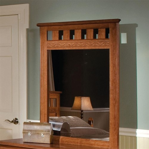 Standard Furniture Orchard Park Panel Dresser Mirror