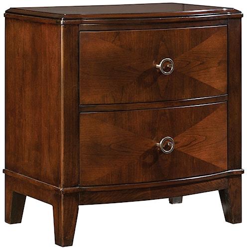 Standard Furniture Park Avenue II 2 Drawer Nightstand with Argyle Pattern Veneer