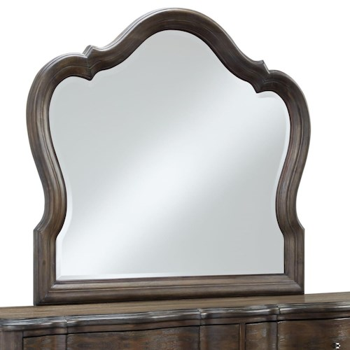 Standard Furniture Parliament Mirror with Camelback Top