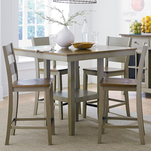 Standard Furniture Pendwood Sage Casual Pub Table and Chair Set