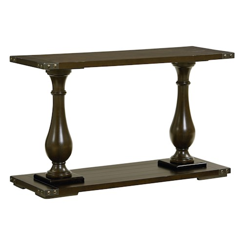 Standard Furniture Pierwood Console Table with Pillar Legs