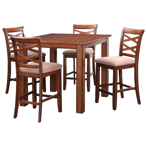 Standard Furniture Redondo Rustic Square Table and Chair Set