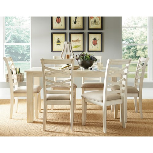 Standard Furniture Redondo Vanilla Casual Transitional 7-Piece Dining Set