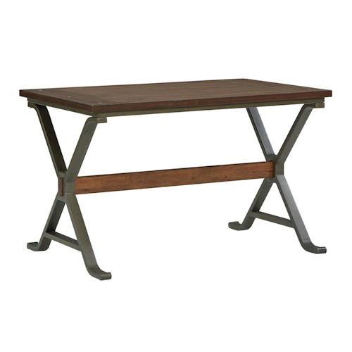 Standard Furniture Reynolds Casual Table with Planked Top