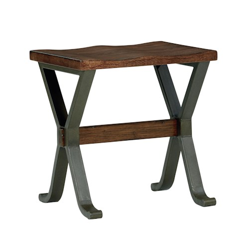 Standard Furniture Reynolds Stool with X-Shaped Base
