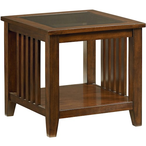 Standard Furniture Rio Dark End Table with Shelf