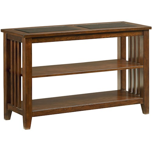 Standard Furniture Rio Dark Console Table with 2 Shelves