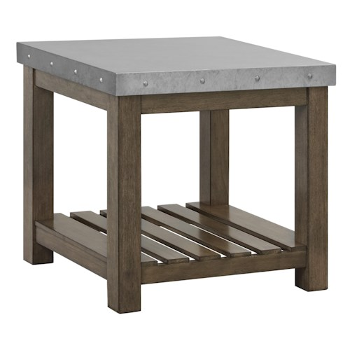 Standard Furniture Riverton Accent Tables Metal Top End Table
