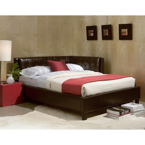 Standard Furniture Rochester Corner Beds Twin Upholstered Corner Daybed