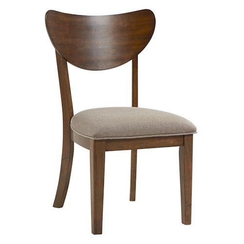 Standard Furniture Roxbury Mid-Century Modern Side Chair with Upholstered Seat