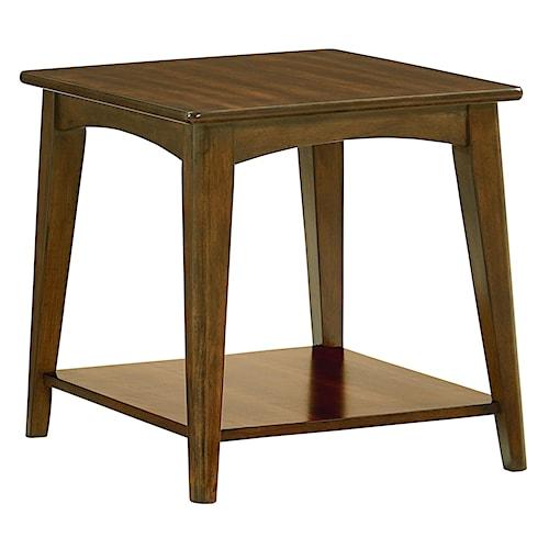 Standard Furniture Roxbury Mid-Century Modern End Table with Splayed Legs