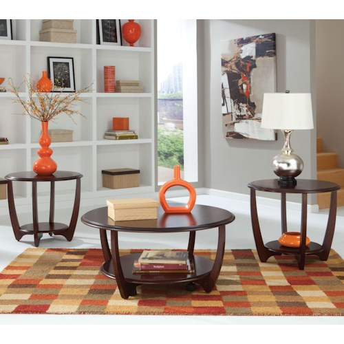 Standard Furniture Seattle II 3-Pack Curved Occasional Table Set