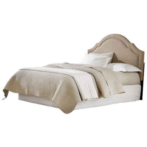 Standard Furniture Simplicity Cathedral Style Linen Queen Headboard with Tack Head Trim