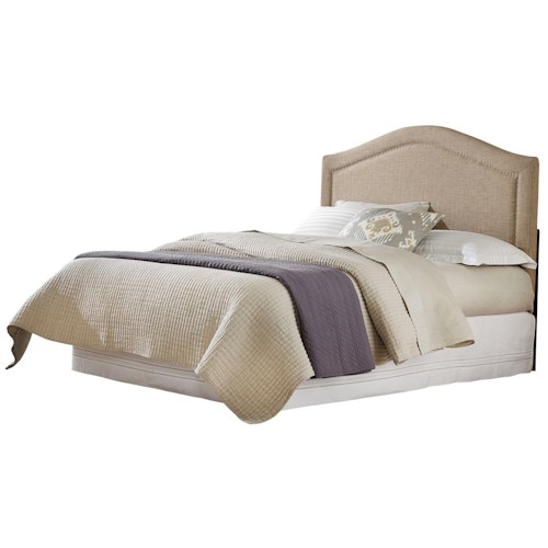 Standard Furniture Simplicity Camelback Style Linen King Headboard with Tack Head Trim