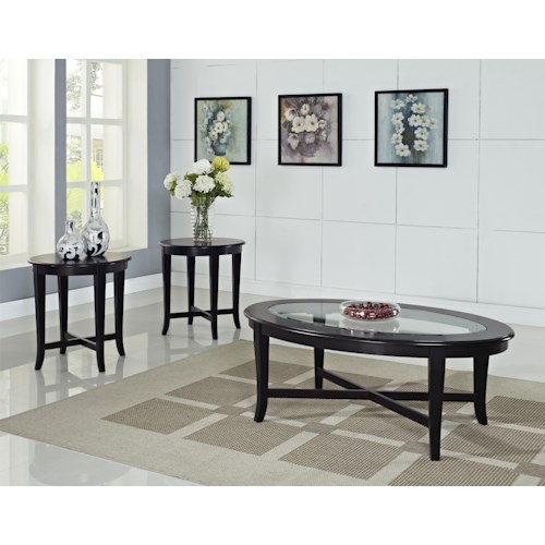 Standard Furniture Sommerset  3 Pack Tables, 1 Cocktail Table and 2 End Tables