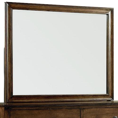 Standard Furniture Sonesta Dresser Mirror with Coffee Brown Frame