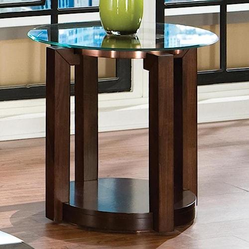 Standard Furniture Coronado Contemporary Glass Top End Table
