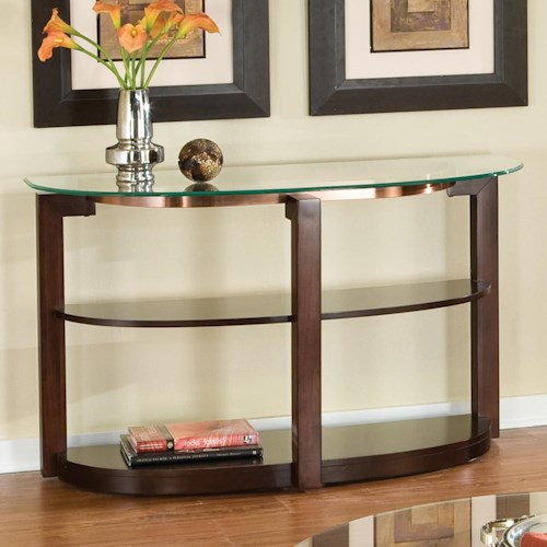 Standard Furniture Coronado Glass Top Sofa Table