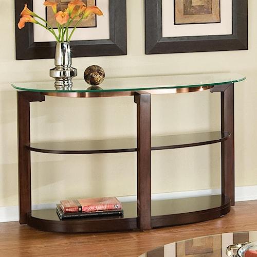 Standard Furniture Coronado Glass Top Sofa Table
