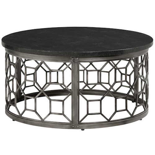 Standard Furniture Equinox Tables Round Cocktail Table with Stone Top