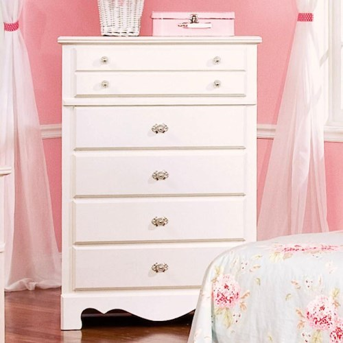 Standard Furniture Spring Rose Chest with 5 Drawers