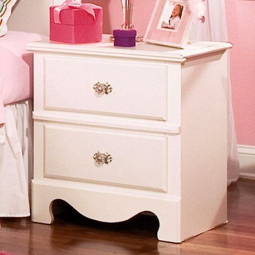 Standard Furniture Spring Rose Nightstand with 2 Drawers
