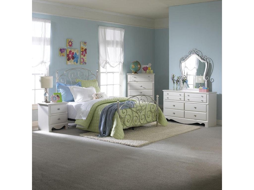Metal Bedroom Furniture Standard Furniture Spring Rose Full Metal Bed Great American