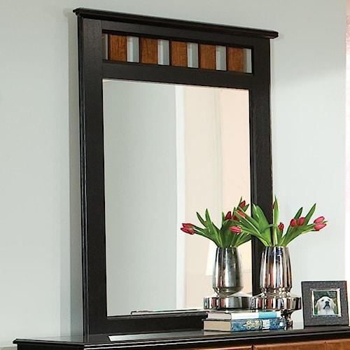 Standard Furniture Steelwood Panel Dresser Mirror