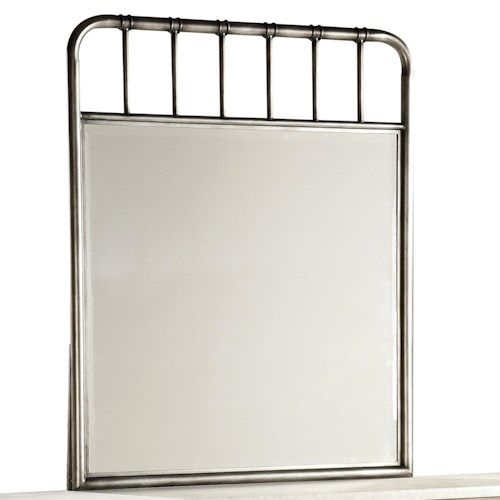 Standard Furniture Stonehill Casual Metal Framed Mirror