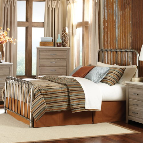 Vendor 855 Stonehill Casual King Metal Bed