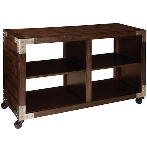 Standard Furniture Sullivan Console Table with 4 Compartments and Dark Finish