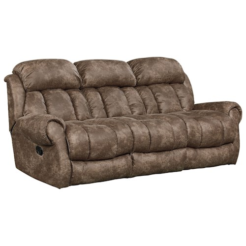 Standard Furniture Summit Reclining Sofa with Scroll Arms