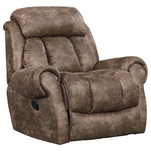 Standard Furniture Summit Glider Recliner with Padded Scroll Arms