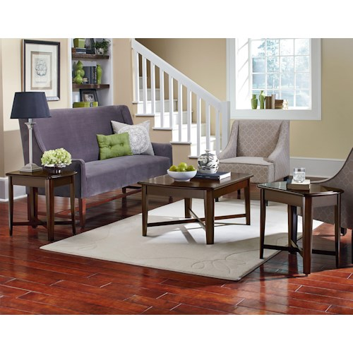 Standard Furniture Townhouse 3 Piece Occasional Table Set with Cocktail Table and End Tables