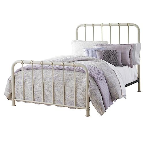 Standard Furniture Tristen Twin Metal Bed with Tubular Steel