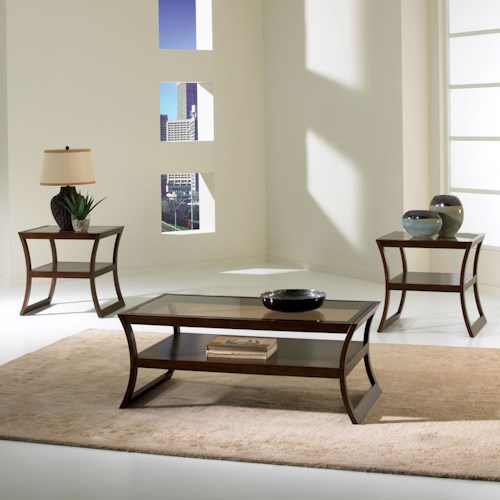 Standard Furniture Utopia Occasional Table Group with One Cocktail Table & Two End Tables