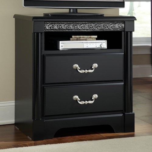 Standard Furniture Venetian TV Chest with 1 Shelf and 2 Drawers