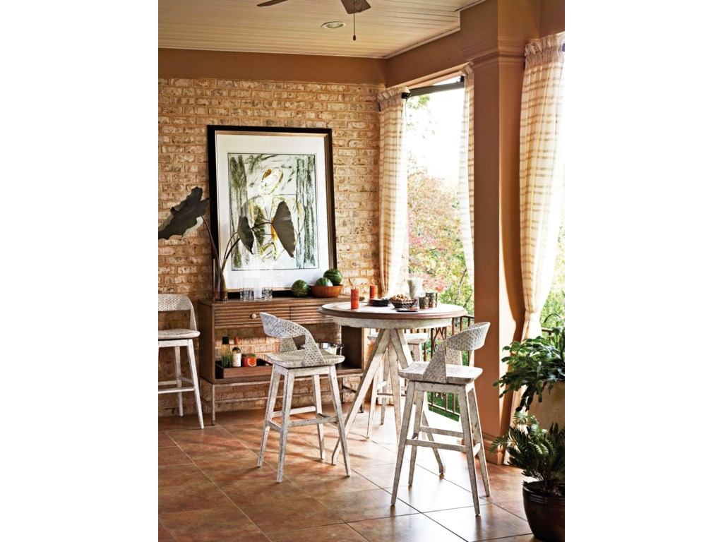 Shown with Ripple Cay Serving Console and Antilles Table