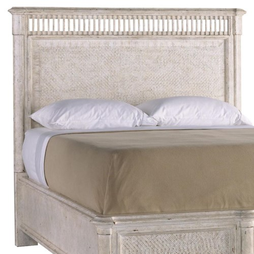 Stanley Furniture Archipelago Queen Nevis Woven Headboard with Peeled Cane Panels