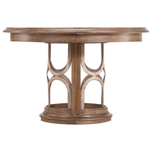 Stanley Furniture Archipelago Monserrat Round Pedestal Table & Leaf
