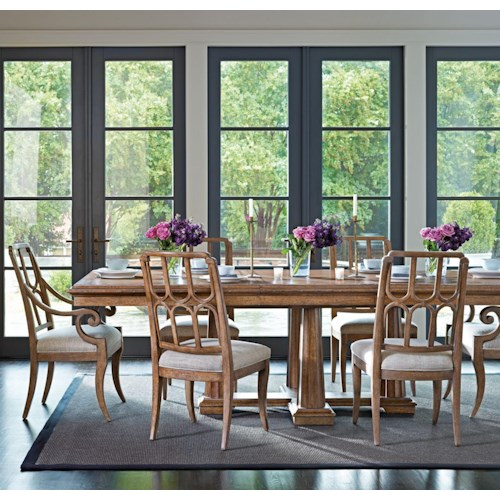 Stanley Furniture Archipelago 7-Piece Calypso Pedestal Table Set
