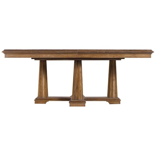Stanley Furniture Archipelago Calypso Pedestal Table with Walnut Burl Inlay