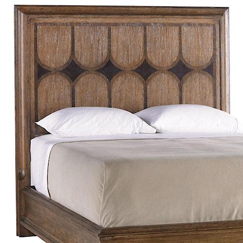 Stanley Furniture Archipelago Queen Calypso Panel Headboard with Walnut Burl Inlay