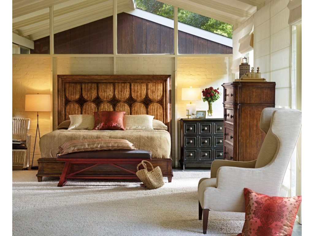 Shown with Bonaire Club Chair, Calypso Panel Bed, Bajan Bed End Bench, and Calypso Drawer Chest