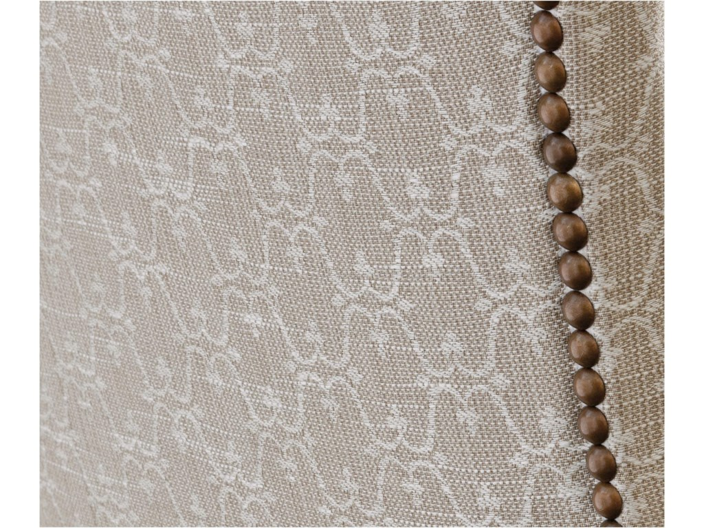 Monarque Fabric with Antique Brass Nailheads