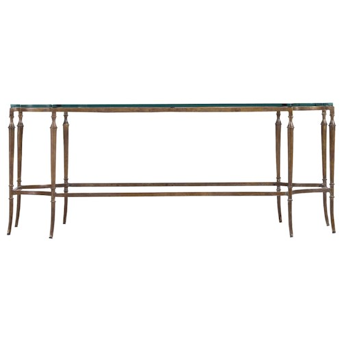 Stanley Furniture Arrondissement Solid Brass Soirée Cocktail Table