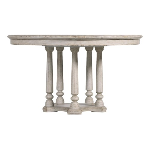 Stanley Furniture Arrondissement Tour Marais Table with Pedestal Base & Leaf